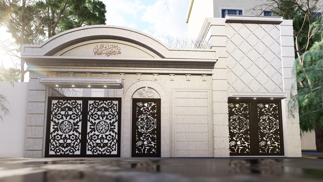 بازسازی نما و محوطه ساختمان مشهد