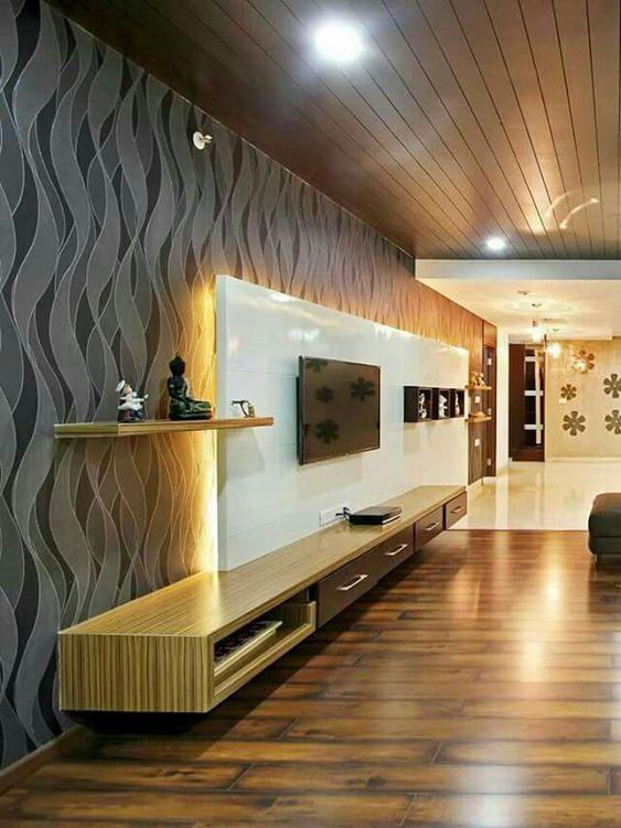 طراحی دیوار پشت ال سی دی