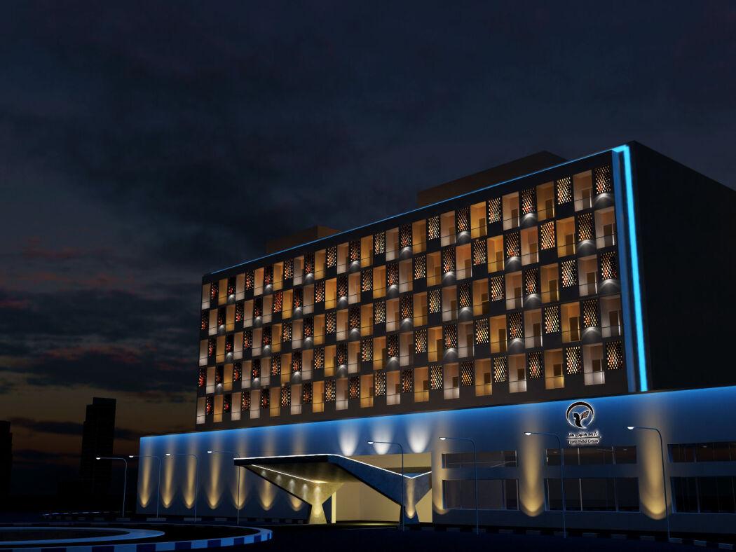 نورپردازی نمای هتل هما مشهد