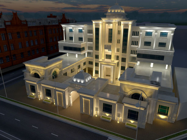 نورپردازی ساختمان مسکونی 2 مشهد