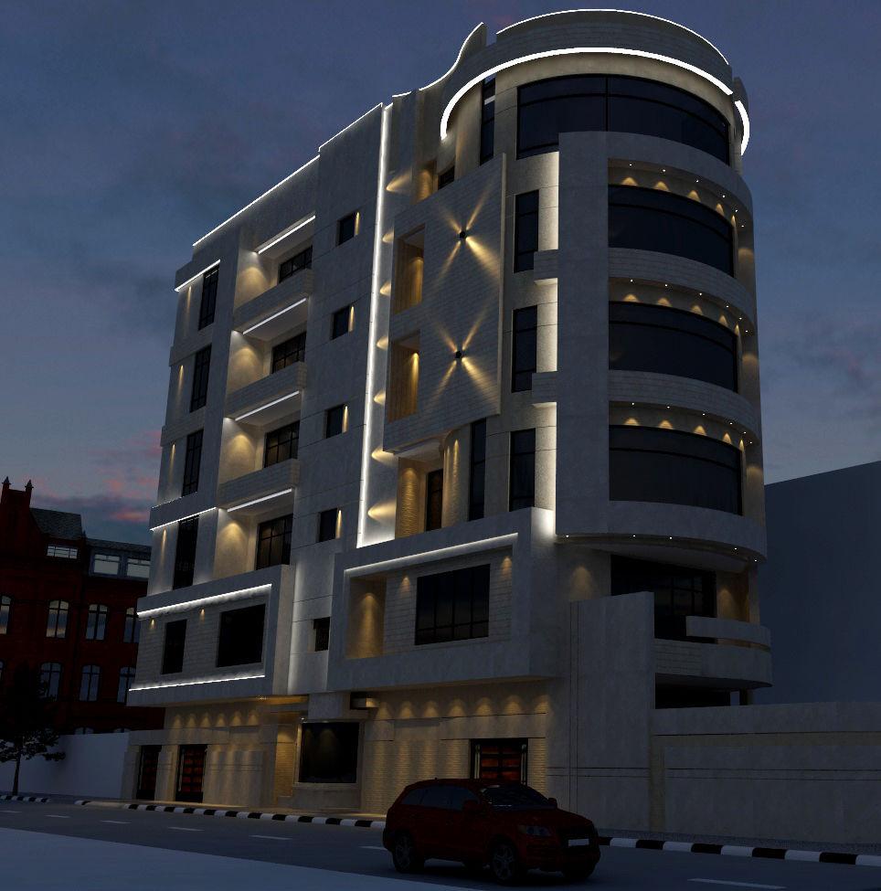 نورپردازی نمای ساختمان مسکونی مشهد