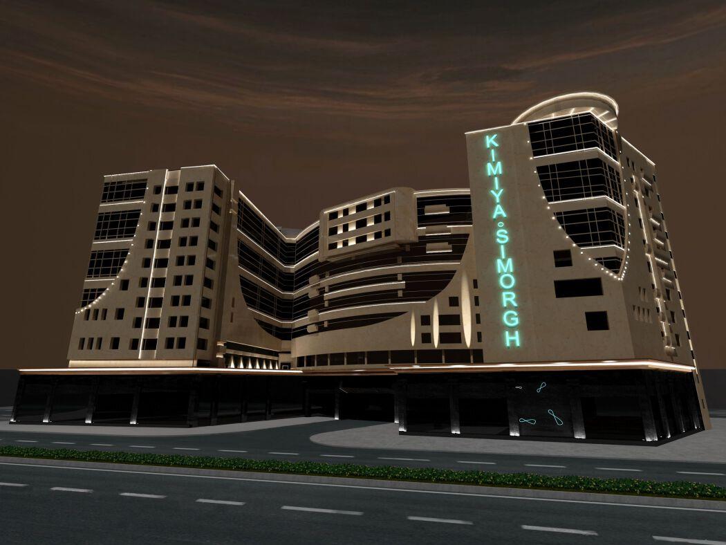 نورپردازی نمای هتل کیمیا و سیمرغ مشهد