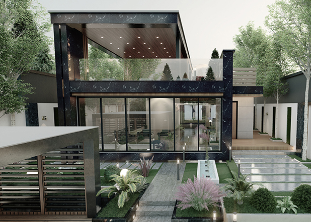 طراحی باغ و ویلا