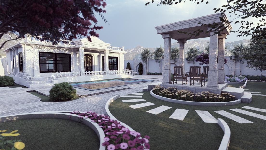 طراحی ویلای جناب حصاری مشهد